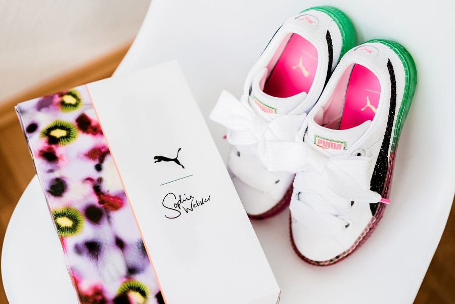 chaussure-sophia-webster-puma-basket-platform-fille-boite-spéciale