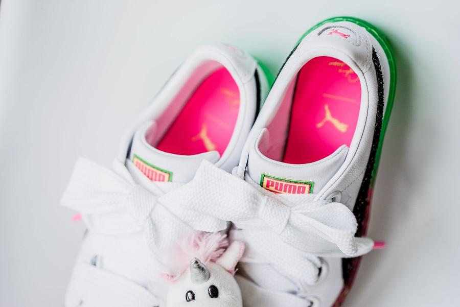 chaussure-sophia-webster-puma-basket-platform-paillettes-semelle-intérieure-rose