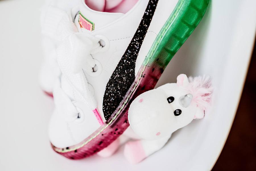chaussure-sophia-webster-puma-basket-platform-paillettes-sur-la-bande-noire