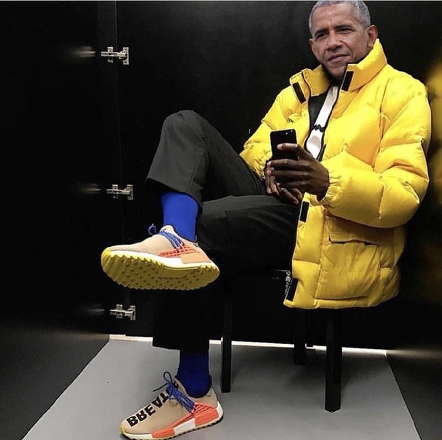 Obama en Pharrell Williams x Adidas NMD HU