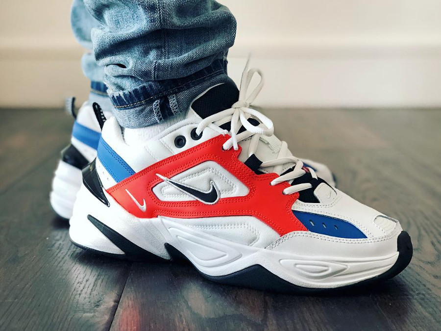 Nike Tekno M2K 'Summit White/Team Orange'