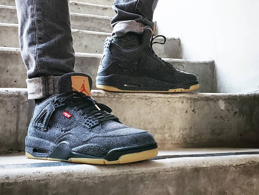 Levi's x Air Jordan 4 Retro NRG 'Triple White & Black'