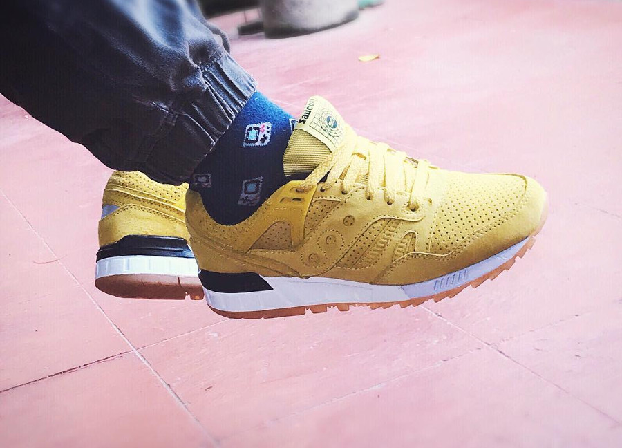 Saucony Grid SD Yellow No Chill Pack - @meansneaks