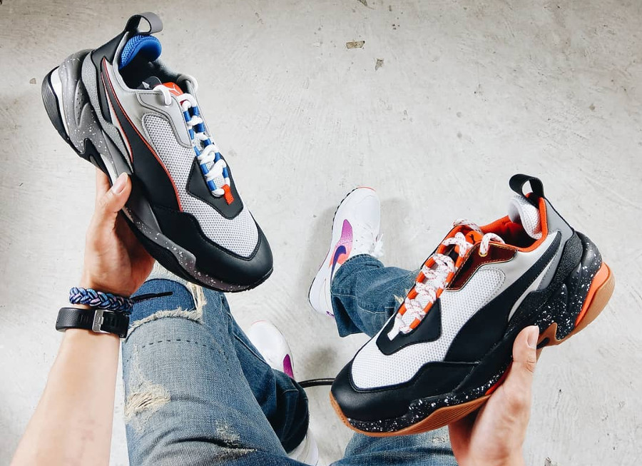 Puma Thunder Electric 'Grey Violet & Mandarine Red'