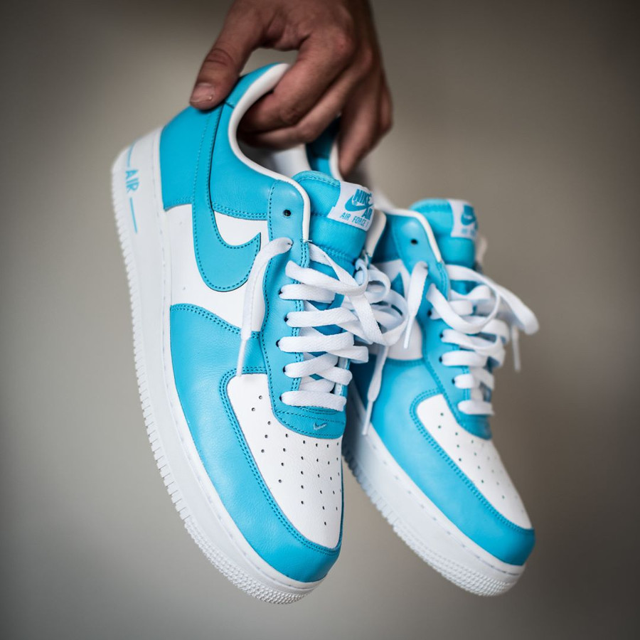 Homme NIKE AIR FORCE 1 LO Blue Gale Baskets AQ4134 400 | eBay
