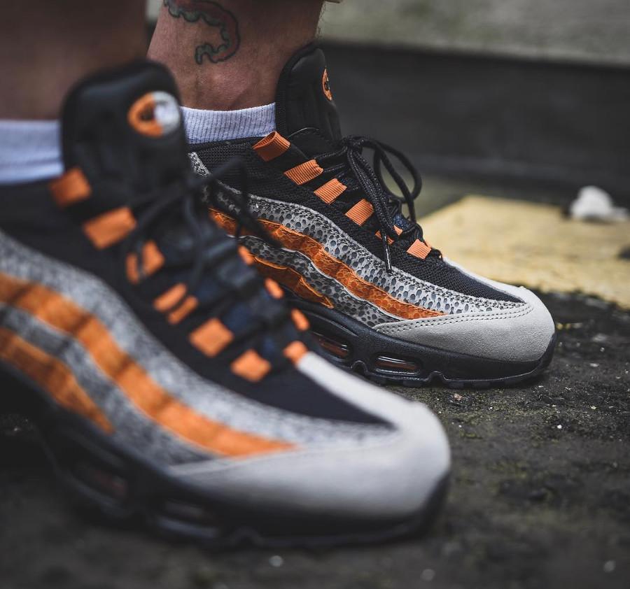 0bc0e5bed3 Review : Size? x Nike Air Max 95 Safari Print Carrot Orange