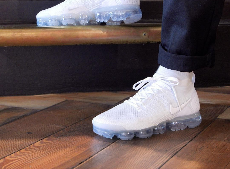 new products 34e51 6e86c Review : Nike Air Vapormax Flyknit 2 blanche Pure Platinum ...