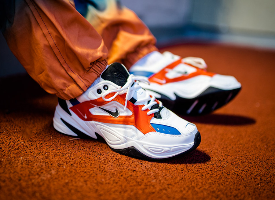 350d96121 Comment acheter la Nike Monarch Tekno M2K John Elliott White Orange