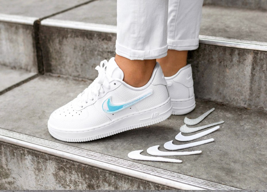 Nike Wmns Air Force 1 1-100 Patch 'Triple White'