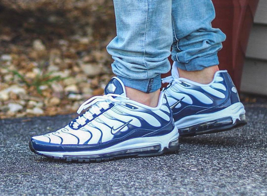 Nike Air Max 97 Plus OG 'Metallic Silver & Midnight Navy'