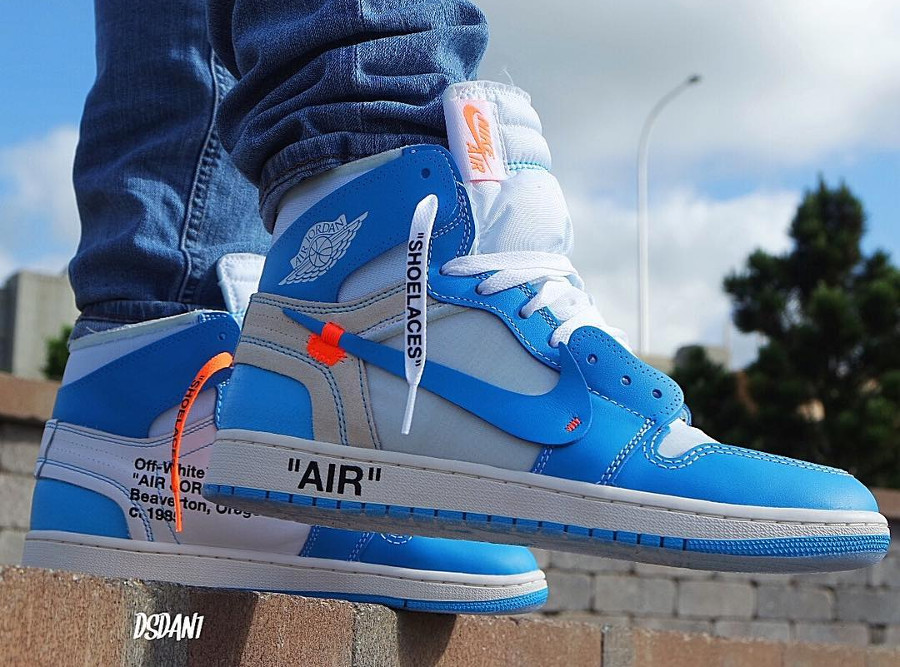 air jordan 1 off white blue prix