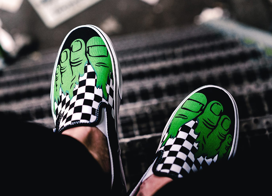 Marvel x Vans Slip On Checkerboard 'Hulk'