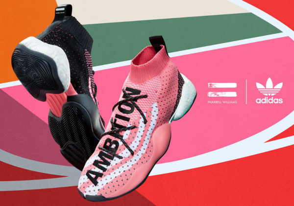 Pharrell Williams x Adidas BYW LVL 'Solar & Chalk Pink'