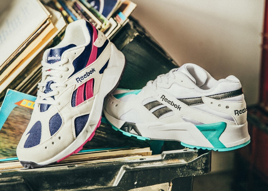 Reebok Aztrek OG White 'Solid Teal & Bright Rose'