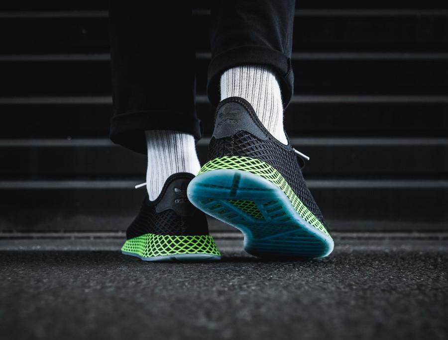 new concept d37e0 d566c adidas-deerupt-runner-core-black-ash-blue-on-