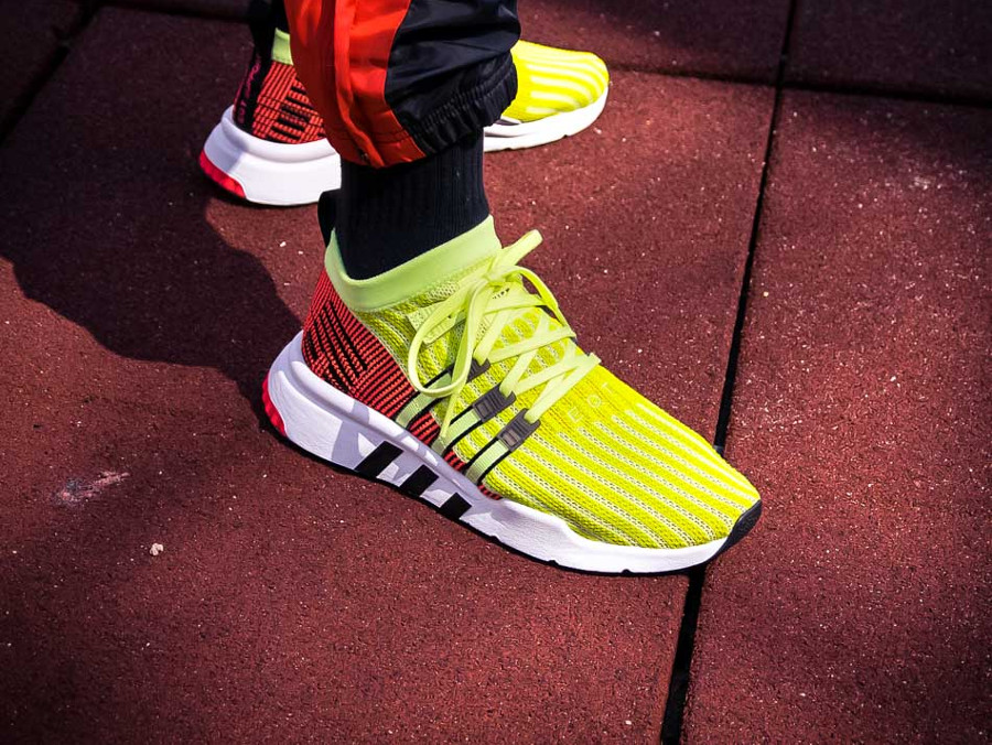 Adidas Equipment Support Mid ADV Primeknit 'Glow Black Turbo'