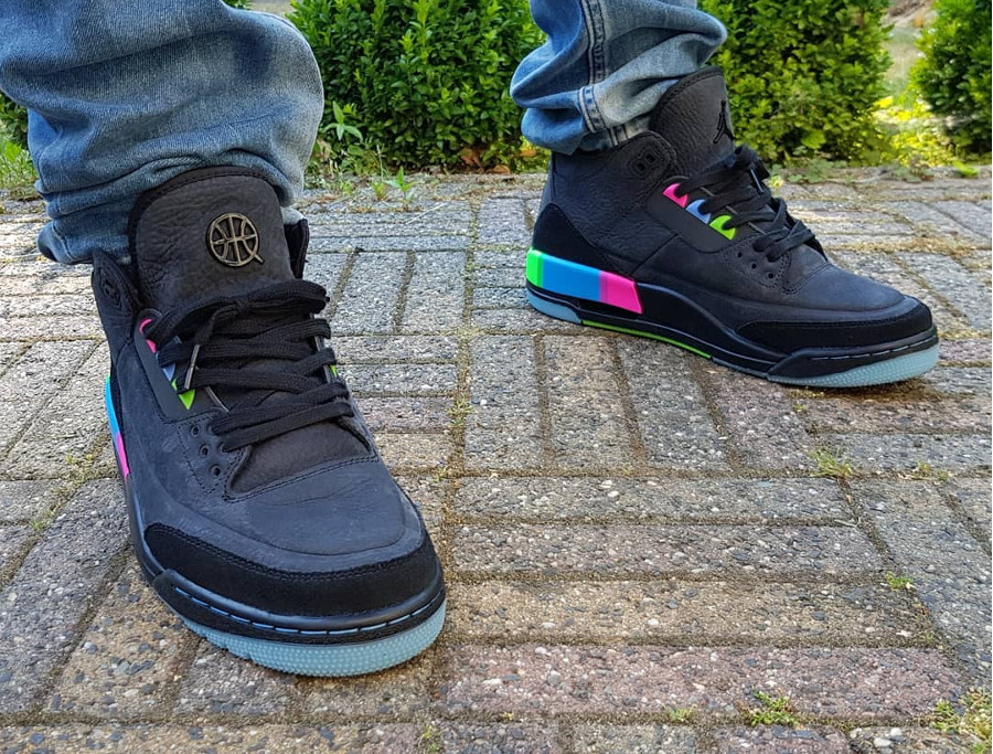 Air Jordan 3 Retro 'Quai 54' Black Multicolor