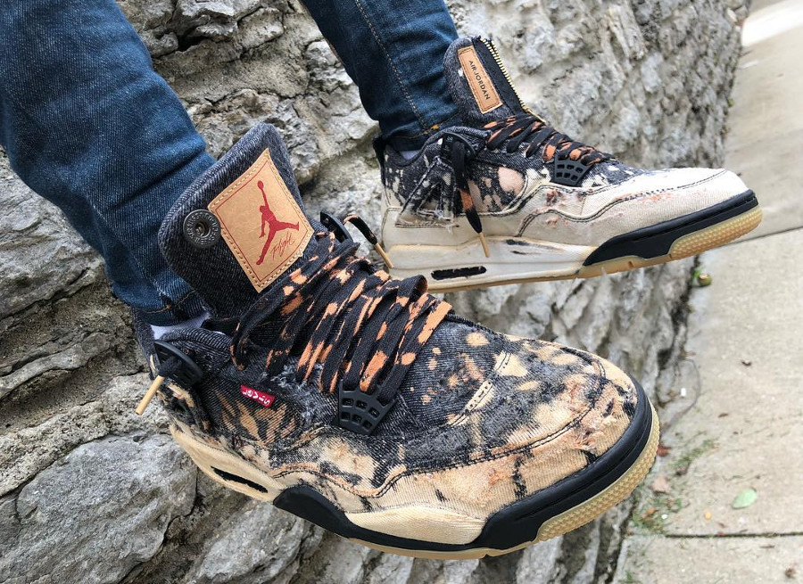 Air Jordan 4 Retro Levi's NRG DIY 'Pushead'