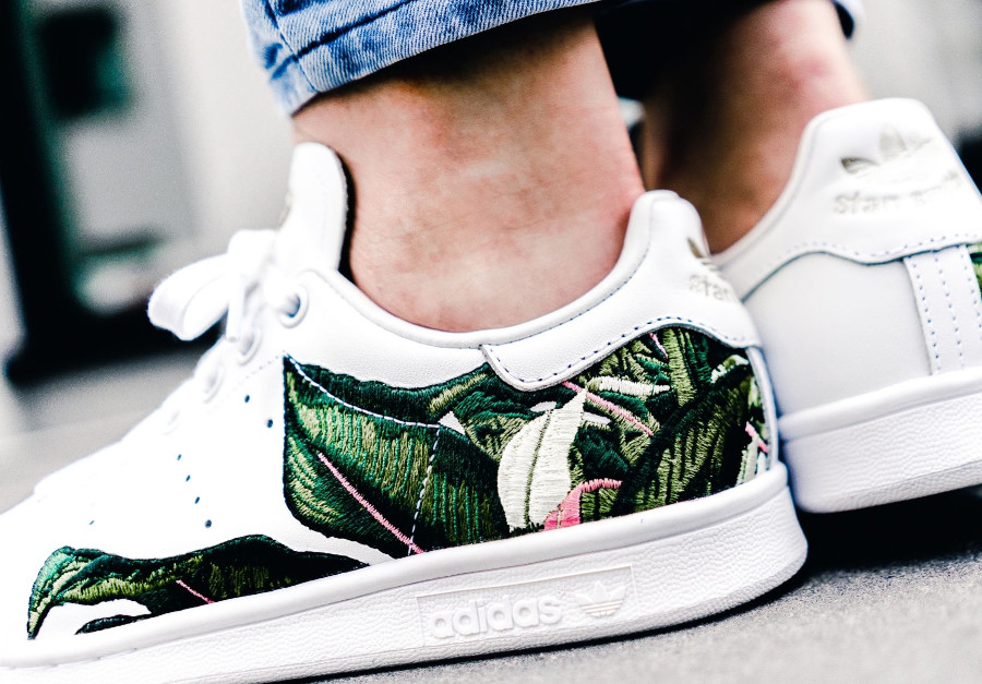 The Farm Company x Adidas Stan Smith W 'Big Leafy Graphic'