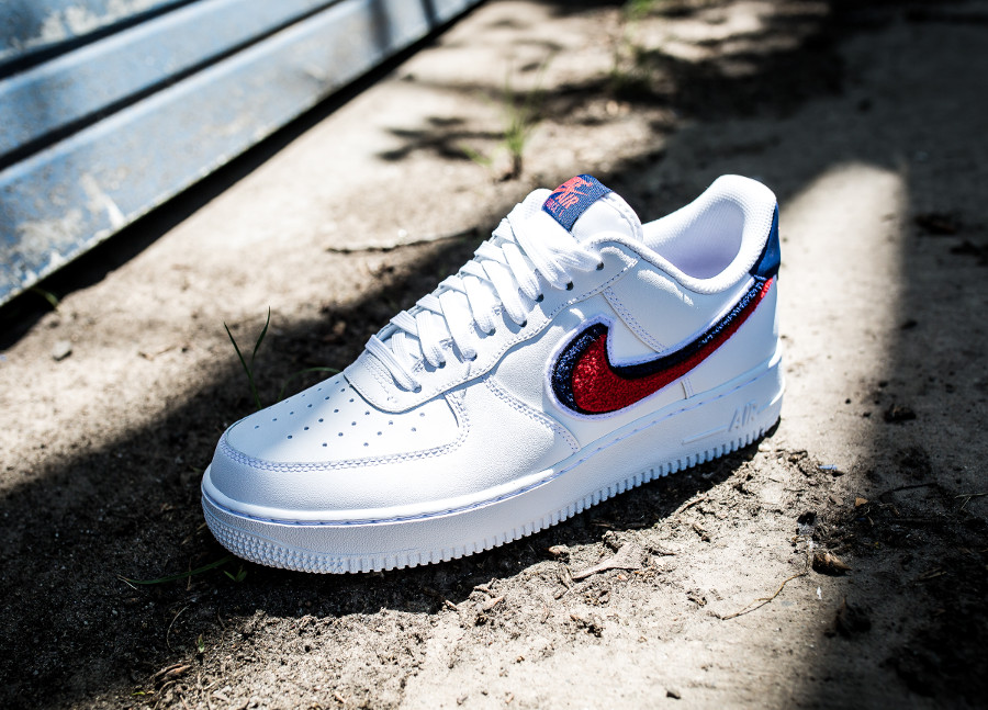 Nike Air Force 1 Low 07 LV8 '3D Chenille Swoosh' White University Red