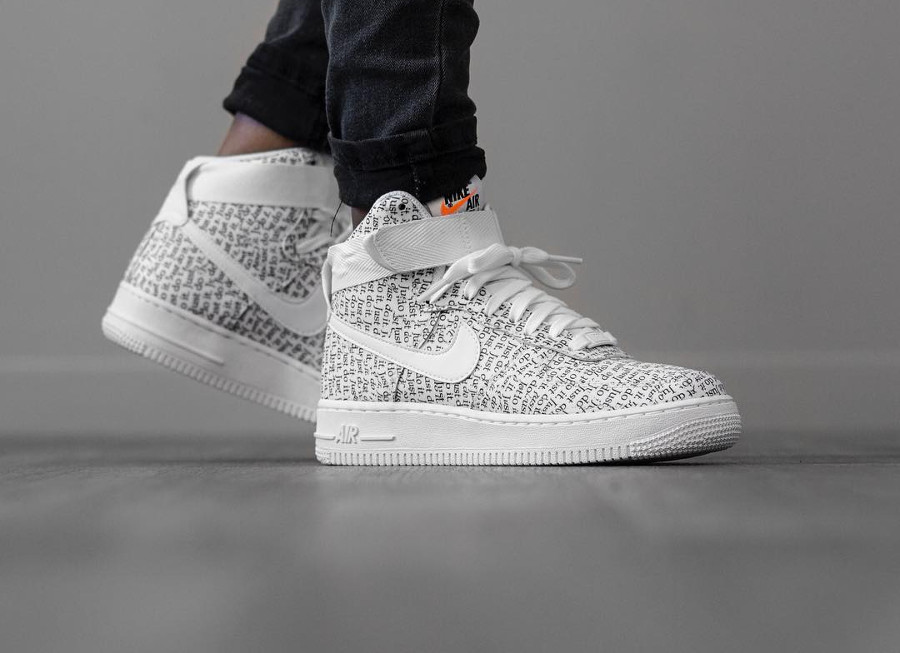 Nike Wmns Air Force 1 High Lux 'Just Do It' White Black