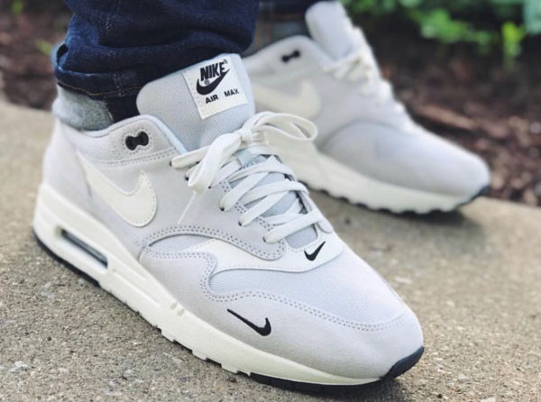 Nike Air Max 1 Premium Pure Platinum 'Double Mini Swoosh'
