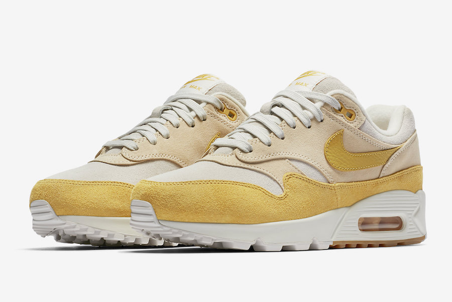 sortie-nike-air-max-90-1-wheat-gold-white-guava-ice