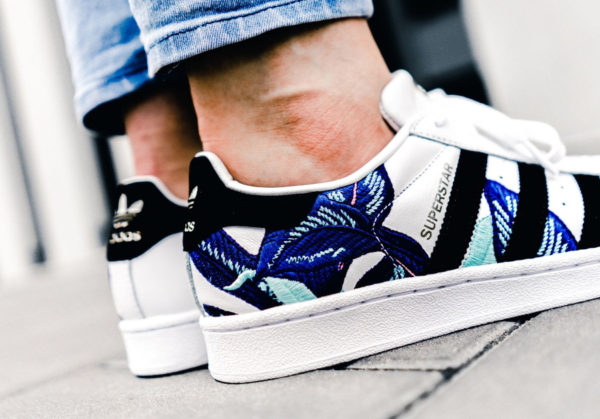 The Farm Company x Adidas Superstar W 'Tropical Palm Leaf'