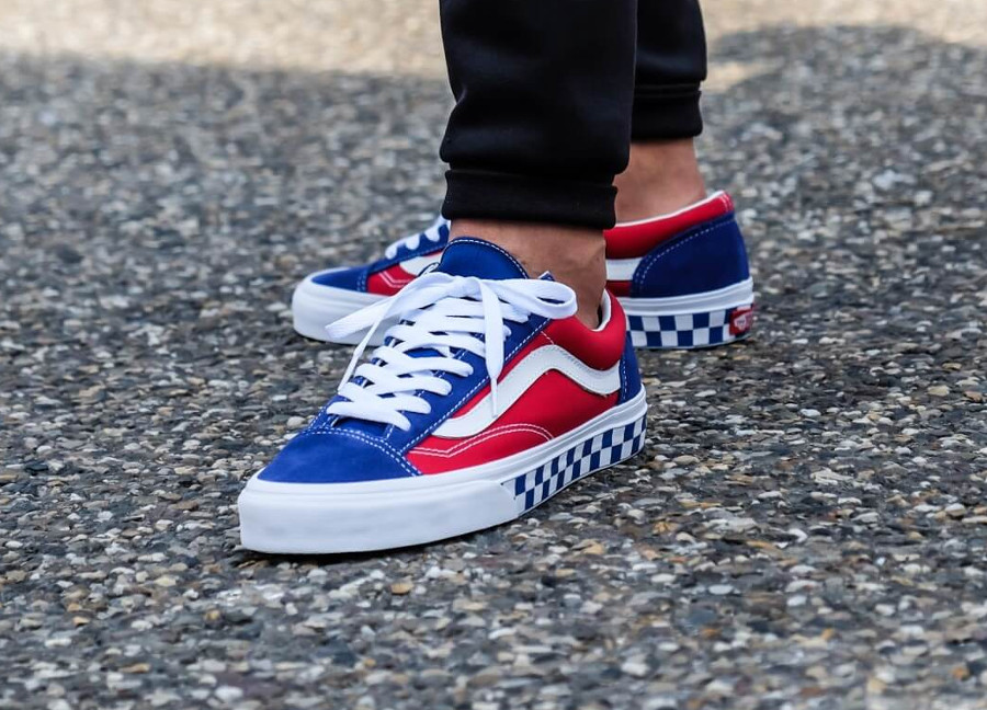 Vans Style 36 BMX Checkerboard 'True Blue Red'