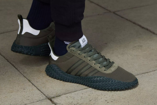 C.P. Company x Adidas Kamanda Night Cargo Trace Olive on foot