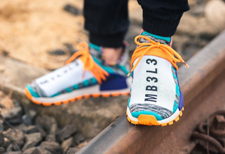 acheter chaussure Pharrell x Adidas NMD HU Solarhu M1L3L3 MB3L3 (Forever & Forward)
