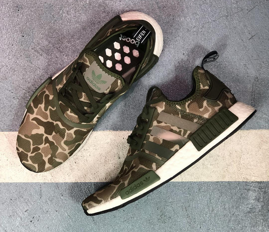 the best attitude 6f085 58da7 adidas-nmd-r1-camouflage-vert-olive-on-feet-