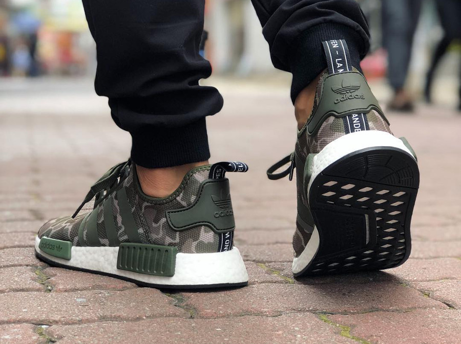 the best attitude b2c7f 0495e adidas-nmd-r1-camouflage-vert-olive-on-feet-