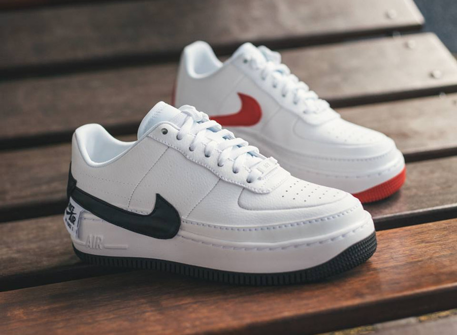 Nike Air Force 1 Jester XX 'White University Red & Black'