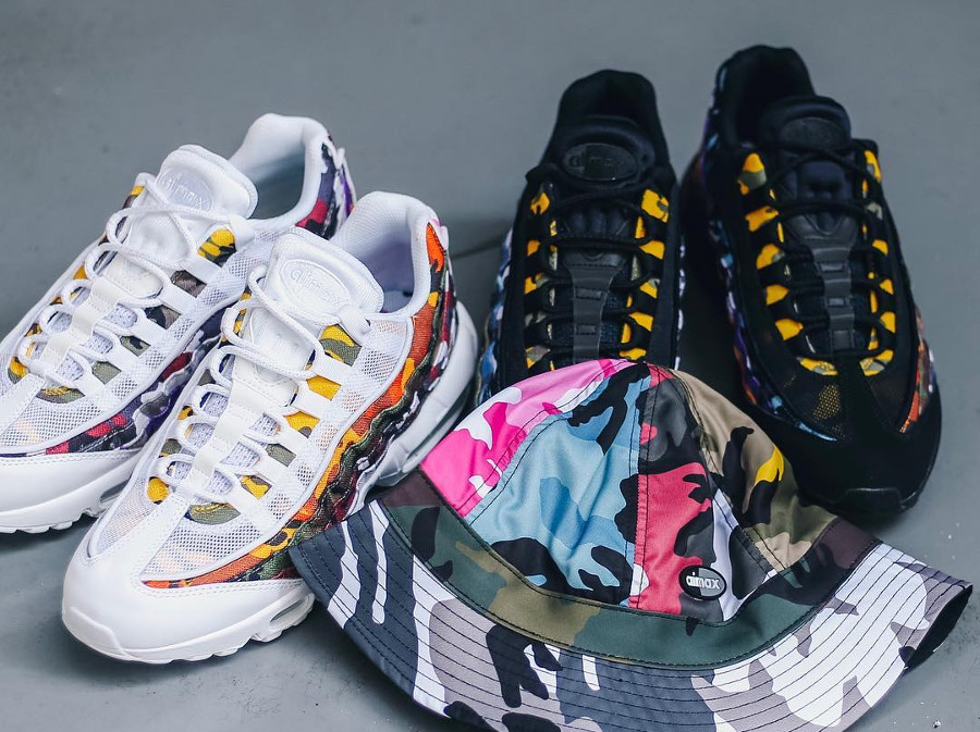 Nike Air Max 95 'ERDL Party' White & Black Multicolor