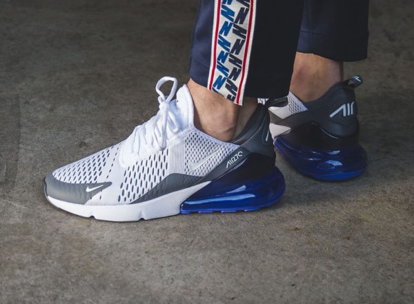 Chaussure Nike Air Max 270 BW Persian Violet White Grey on feet (AH8050-107