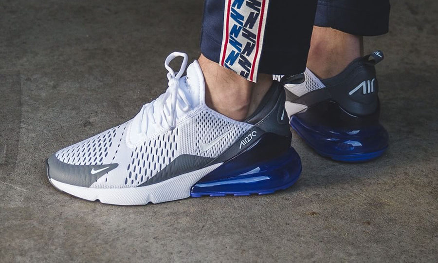 Chaussure Nike Air Max 270 BW Persian Violet White Grey on feet (AH8050-107)