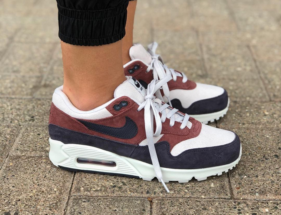 00db4c79361 Que vaut la Nike Wmns Air Max 90 1 Hybrid  Red Sepia Oil Grey