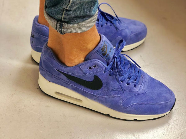 chaussure Nike Air Max 90/1 Violet Purple Basalt Suede