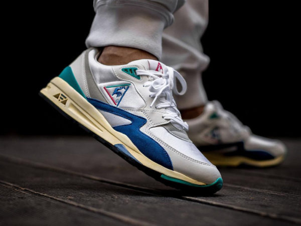 Coq Sportif LCS R800 OG Optical White Rchaussure etro 2018 on feet (1820525)