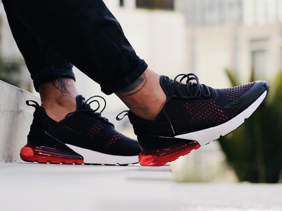 Nike Air Max 270 'Oil Grey Habanero Red'