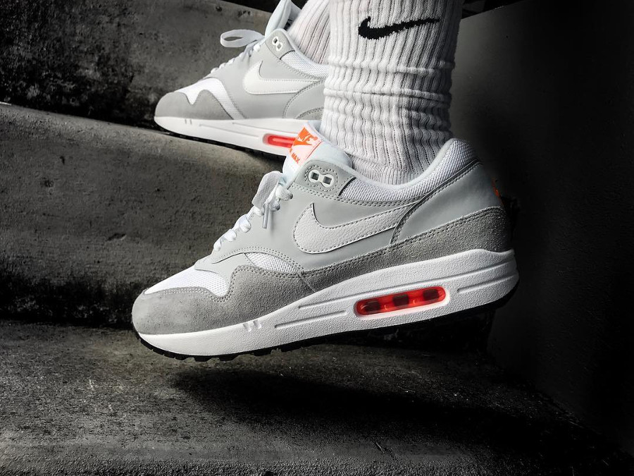 Nike Air Max 1 'Just Do It' Pure Platinum Total Orange