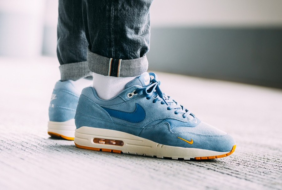 Nike Air Max 1 Premium 'Work Blue Yellow Ochre'