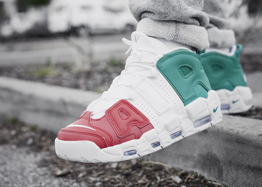 guide achats chaussure Nike Air Uptempo Milan Italy on feet (AV3811-600)
