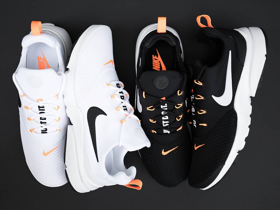 Nike Presto Fly 'Just Do It' White & Black Orange