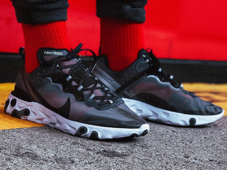 nike-react-element-87-anthracite-black-chaussette-rouge- @cran