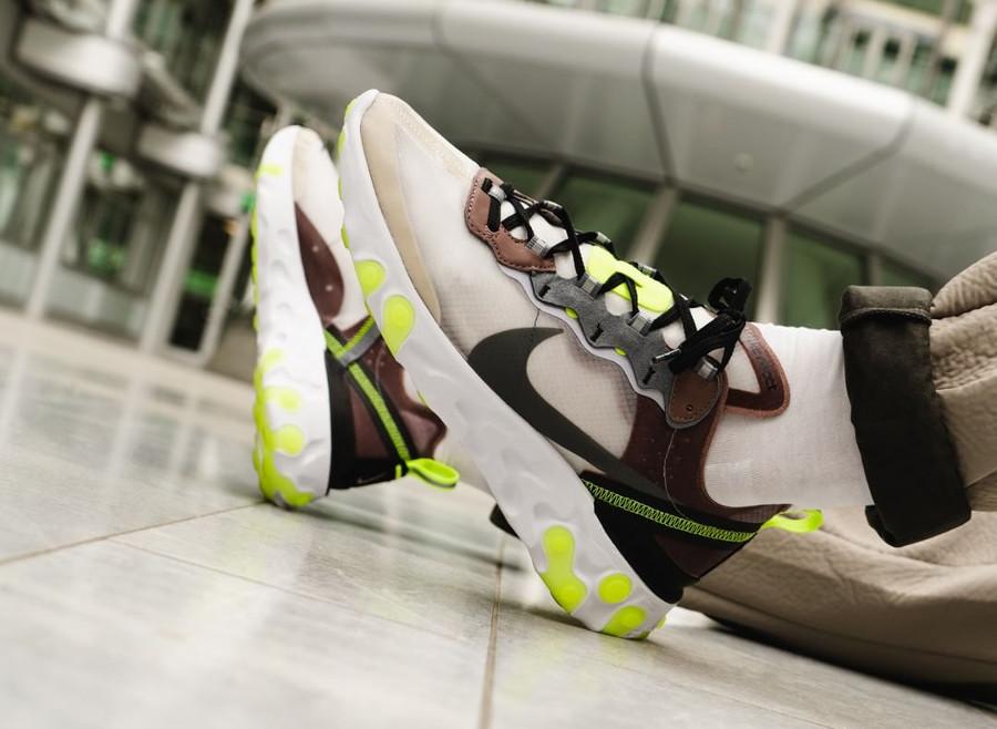 acheter Nike React Element 87 Desert Sand beige et fluo