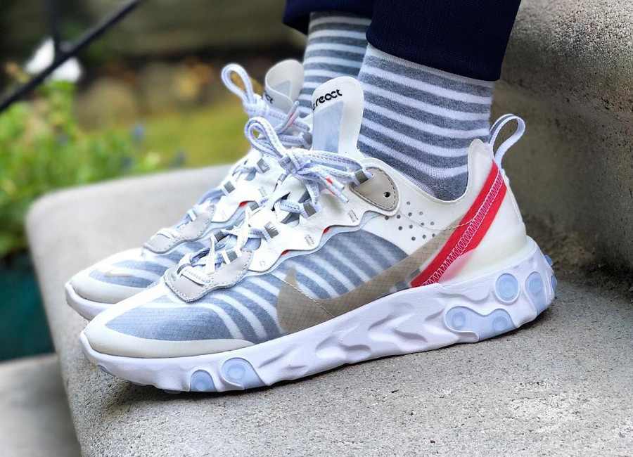 nike-react-element-87-sail -light-bone-chaussettes-rayées- @sheshoe_game