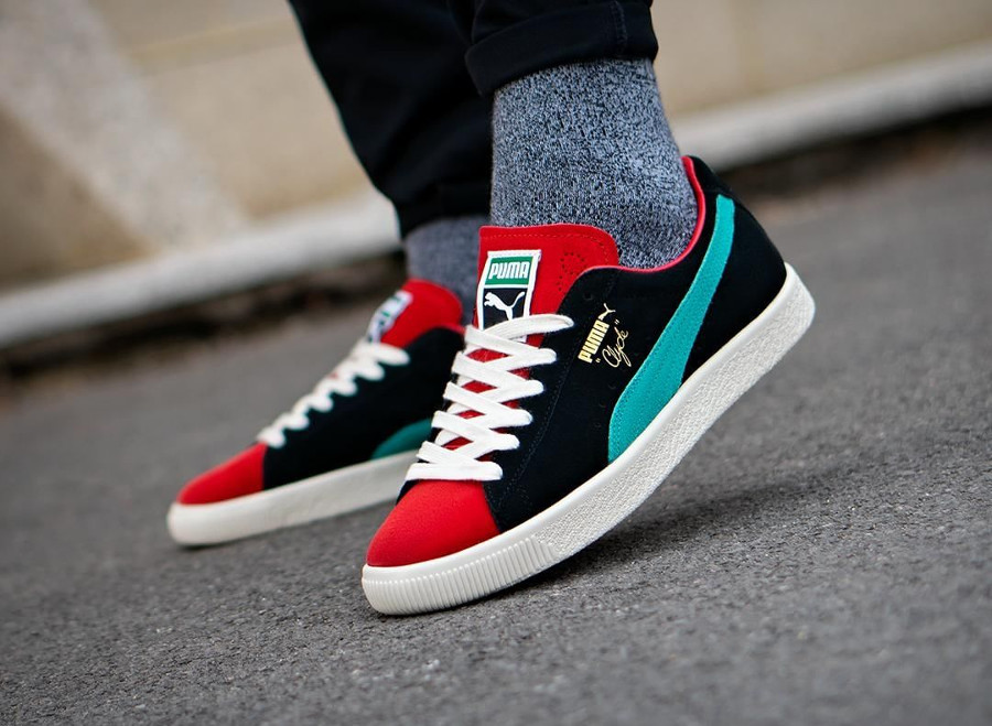 Puma Clyde 'From The Archive' Black High Risk Red
