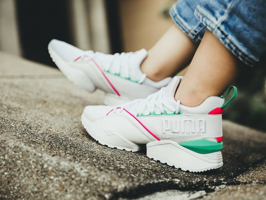 Puma Evolution Muse Maia Street 1 'White Knockout Pink'